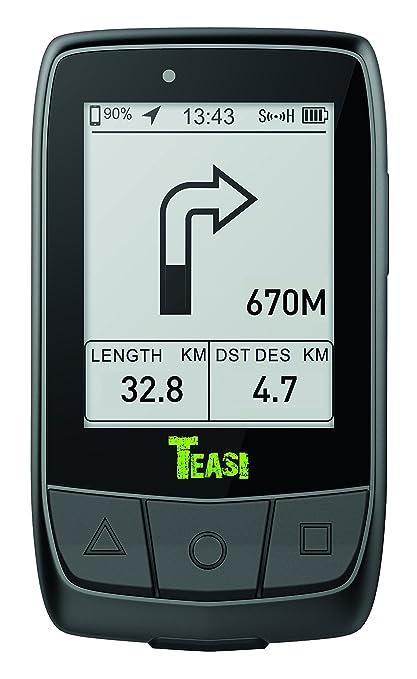 Teasi Core GPS para Ciclismo y Running, Unisex Adulto, Negro, M