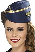 Blue & Gold Air Hostess Hat
