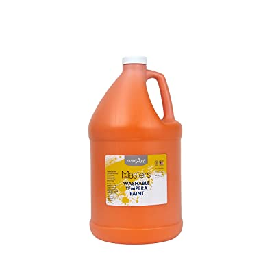 Handy Art Little Masters Washable Tempera Paint, Gallon, Orange: Office Products