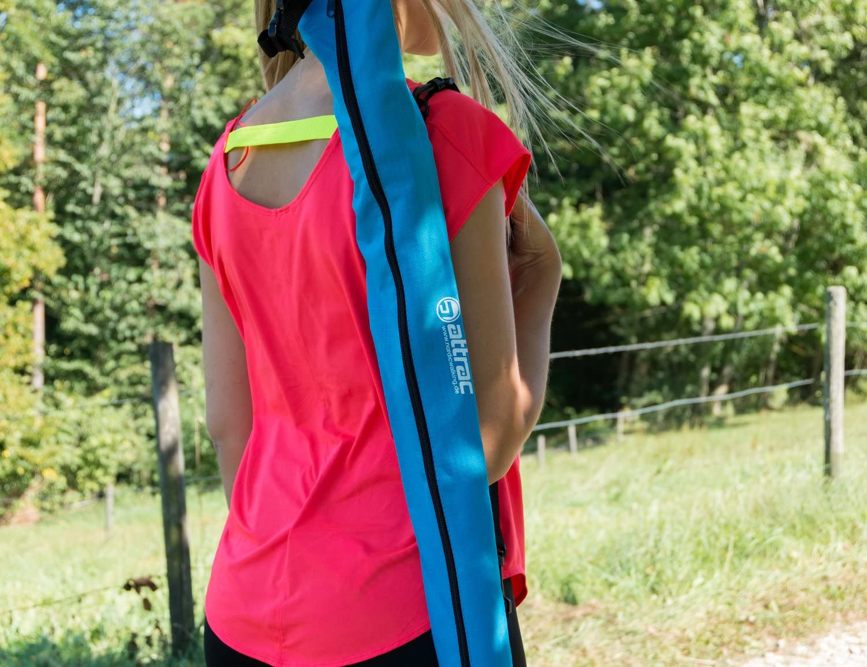 Housse de transport pour bâtons de marche nordique / Sac de rangement - 75  cm x 12 cm - Couleur : Bleu céleste