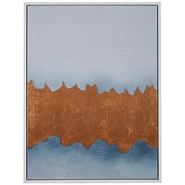 Copper Metallic Foil Canvas Print in White Frame, 31.75  x 41.75