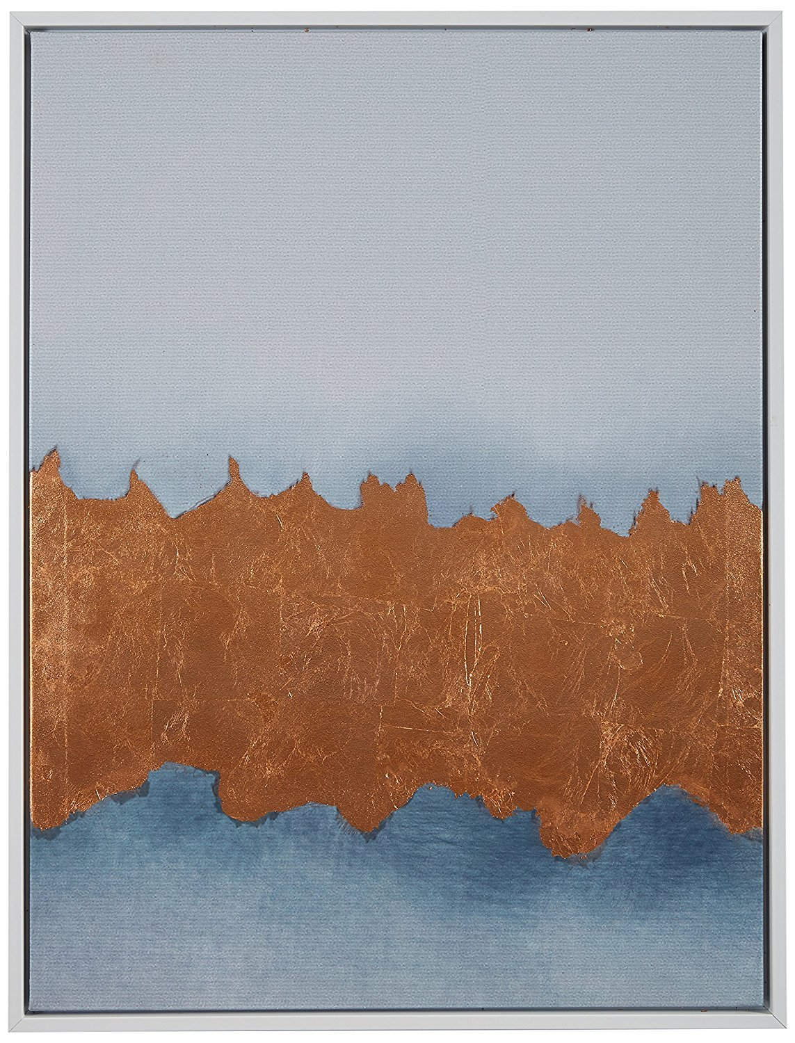Copper Metallic Foil Canvas Print in White Frame, 31.75'' x 41.75'' by Rivet
