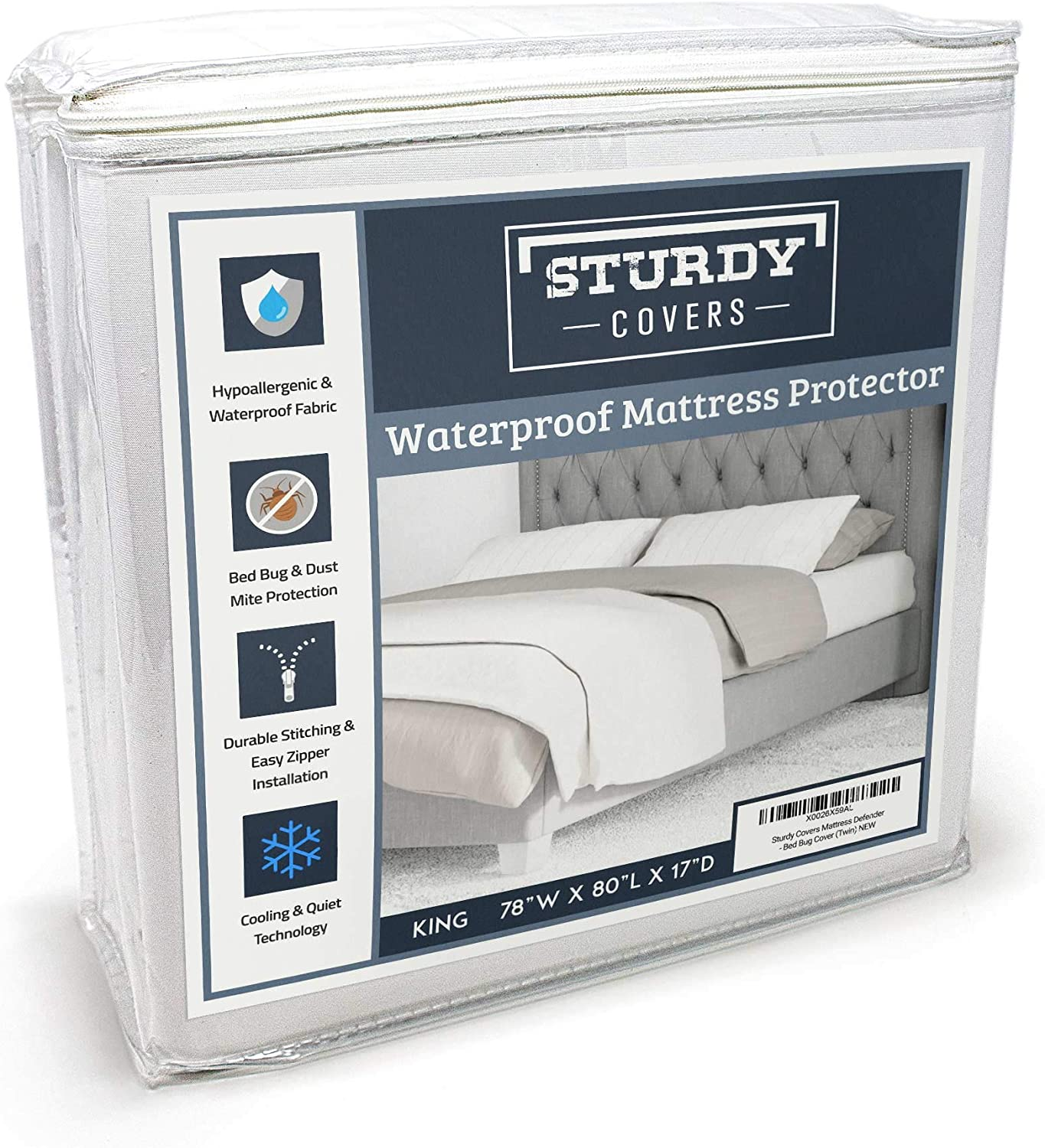 Sturdy Covers Premium Mattress Encasement - Bedbug Proof, Waterproof Mattress Protector with Cooling Fabric (King)