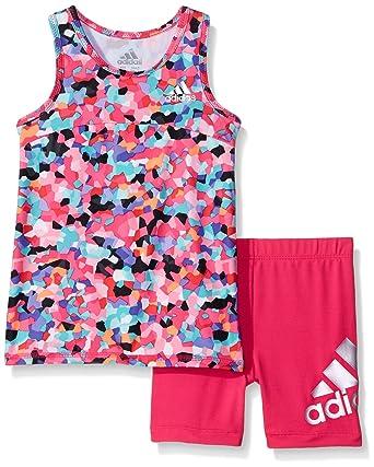 8049407723c Amazon.com: adidas Baby Girls' Top and Short Set, Mosaic Print, 6 ...