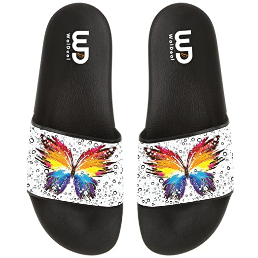 Butterfly Women's Fashion Comfortable Flip Flop Big Screen Slip On Slide Sandal