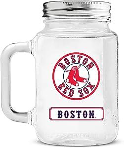 MLB Boston Red Sox 20oz Glass Mason Jar