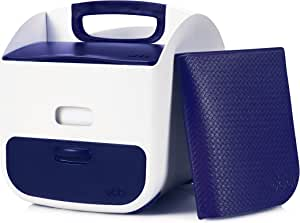 Ubbi Diaper Storage Caddy Wipes Dispenser and Changing Mat Set, Navy
