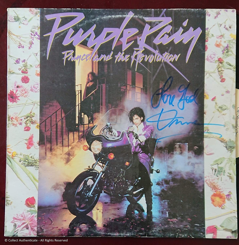 Collect Authentic Prince  Autographed 'Purple Rain' LP  COA  PR58891
