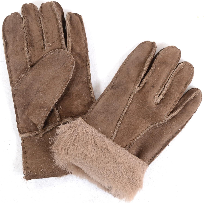 Luxury Childrens Full Sheepskin Gloves (Tan, Brown, Grey, Beige, Black, Red)