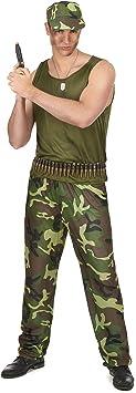 Disfraz militar hombre - Única: Amazon.es: Juguetes y juegos