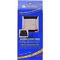 ITA-MED Men's Breathable Abdominal/Back Support Binder AB-208: Black Small