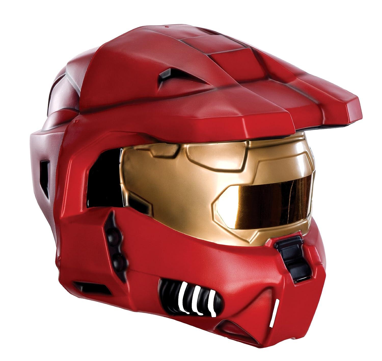 Halo Helmet Adult Blue Spartan Costume Mask Fancy Dress