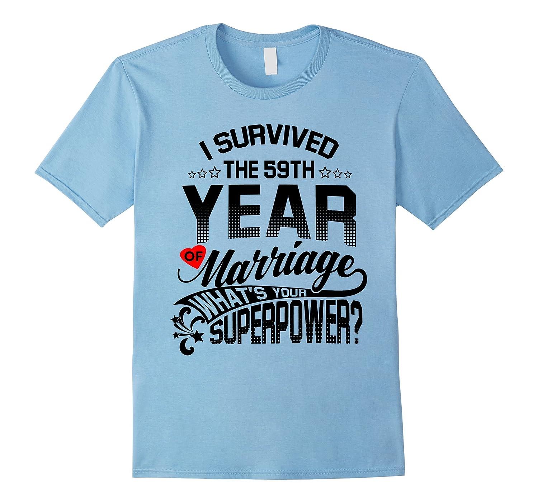Anniversary Gift 59th 59 years Wedding Marriage T-Shirt-Vaci