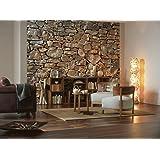 KOMAR Vlies-Fototapete Stone Wall, 368 x 254 cm / 8-tlg.