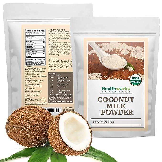 Healthworks leche de coco en polvo orgánico: Amazon.com ...