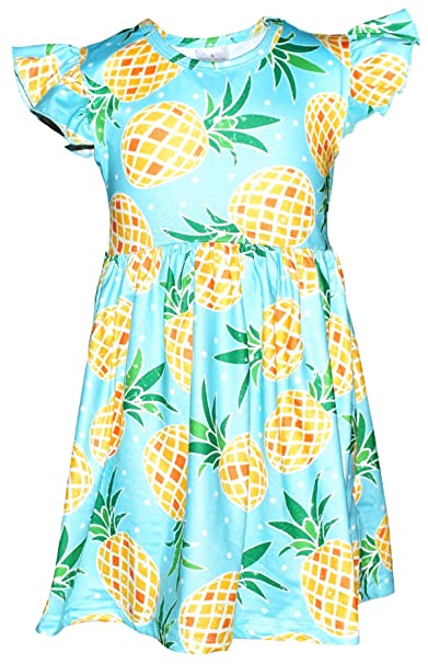 7af278366b882 Amazon.com  Unique Baby Girls Spring Summer Pineapple Dress  Clothing
