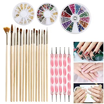 Amazon Com Nail Art Set Etereauty Nail Art Tools Fashion Design
