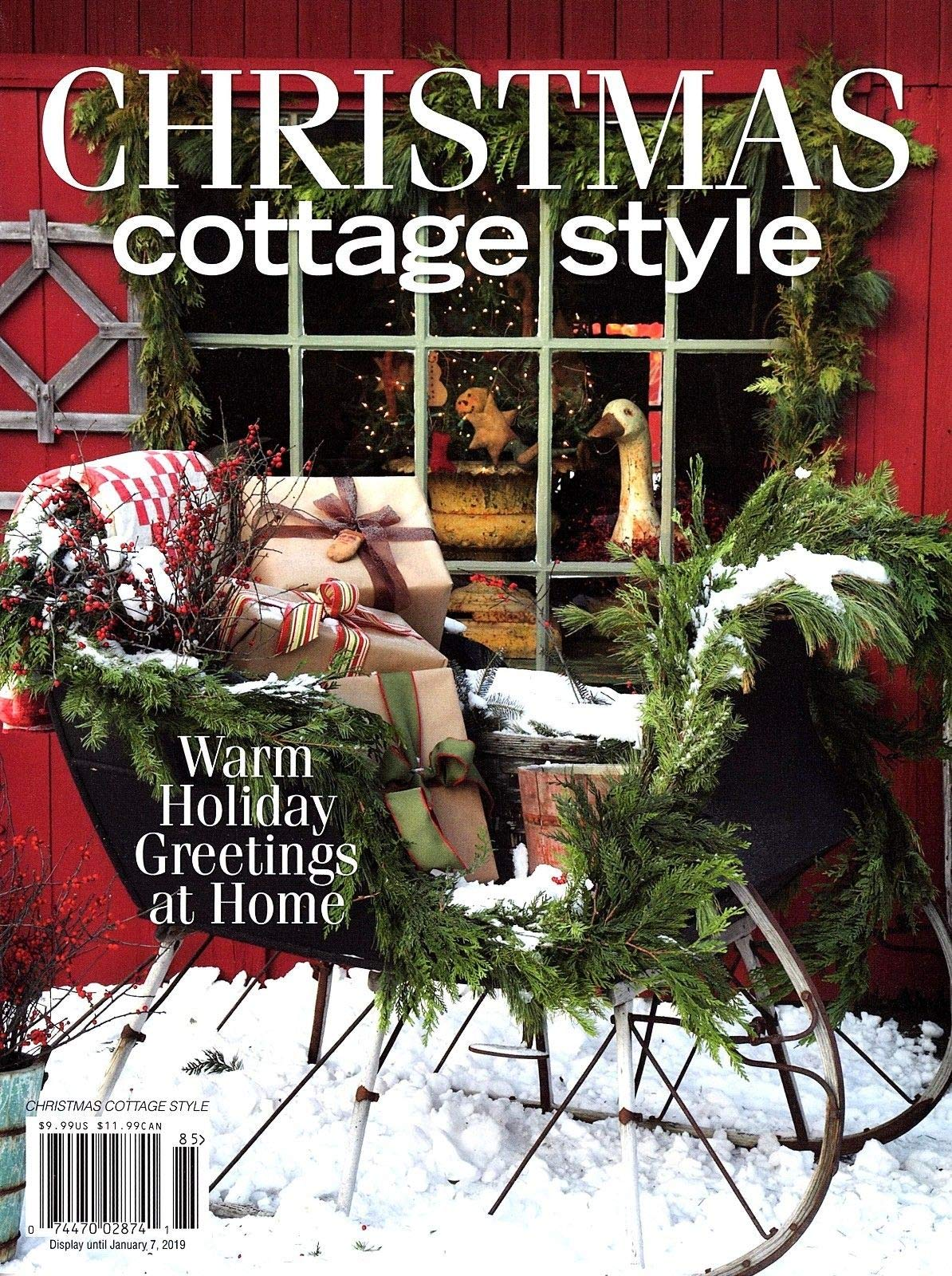 Miraculous Christmas Cottage Style 2018 Magazine Holiday Decorating Interior Design Ideas Grebswwsoteloinfo