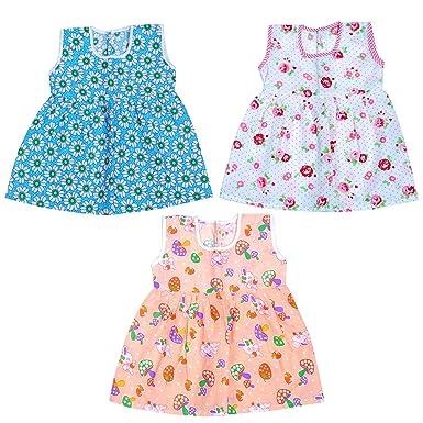 806e377a6bb1 Light Gear Baby Girls (6M to 5 yrs) Cotton Knee Length Designer Frocks Set