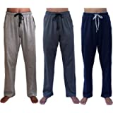 GIVEITPRO 3 Saver Pack-100% Cotton Jersey Knit Pajama Pant Pajama Bottoms-Yarn-dye