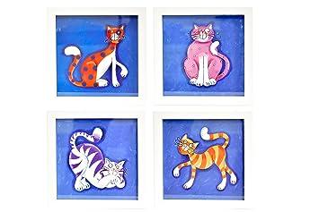Bd Art 4er Set Deko Bilderrahmen Furs Kinderzimmer Geschenk Poster