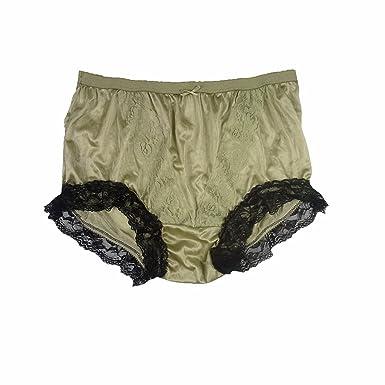 e62cbf57ee3350 NLH07D05 Olive Green Handmade Floral Lace Briefs Nylon New Knickers Panties  Underwear Lingerie Men Women (