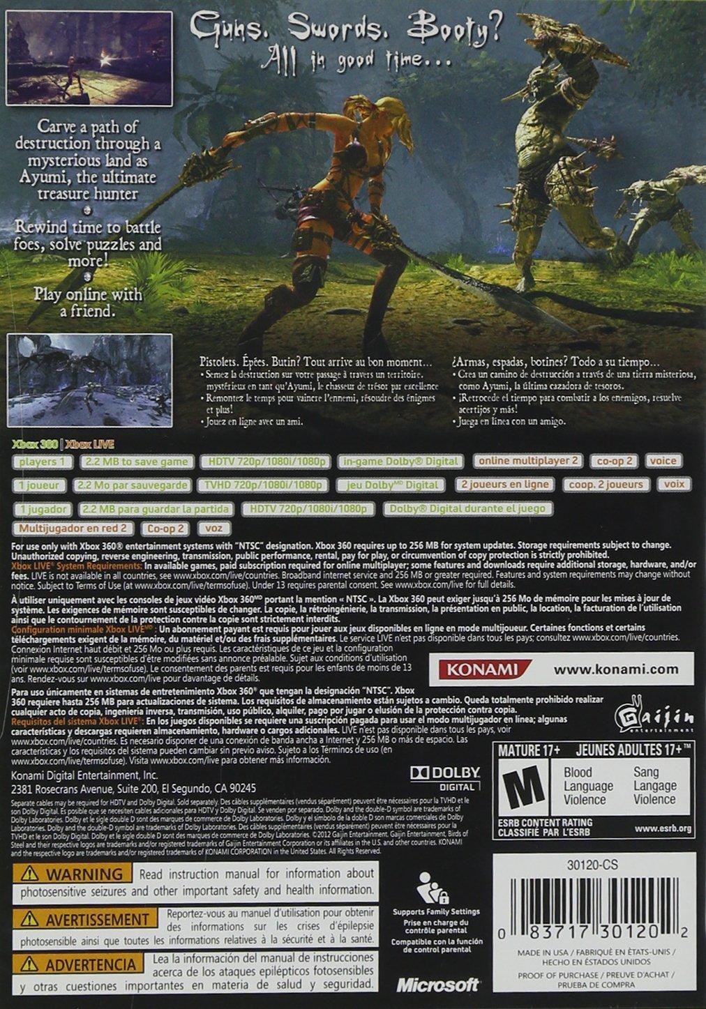Konami Blades of Time, Xbox 360 - Juego (Xbox 360, Xbox 360, Acción / Aventura, RP (Clasificación pendiente)): Amazon.es: Videojuegos
