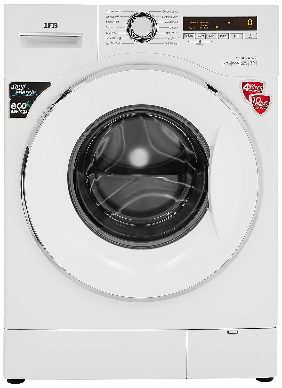 IFB 7 kg Fully-Automatic Front Loading Washing Machine (Serena WX, White, Inbuilt Heater, Aqua Energie water softener)