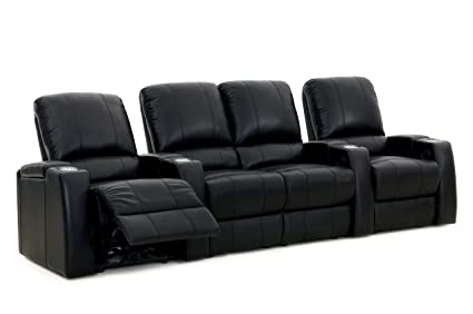 Charmant Storm XL850 Home Theater Sectional Sofa   Octane Seating   100% Premium  Black Leather