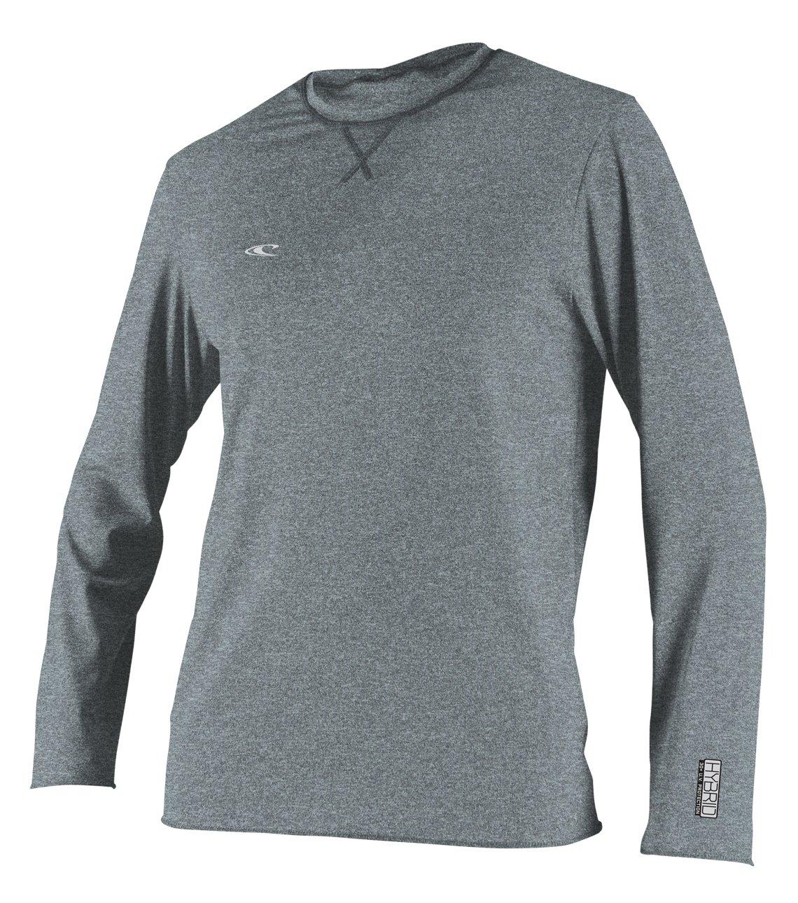 O'Neill  Men's Hybrid UPF 50+ Long Sleeve Sun Shirt, Cool Grey, Small by O'Neill Wetsuits