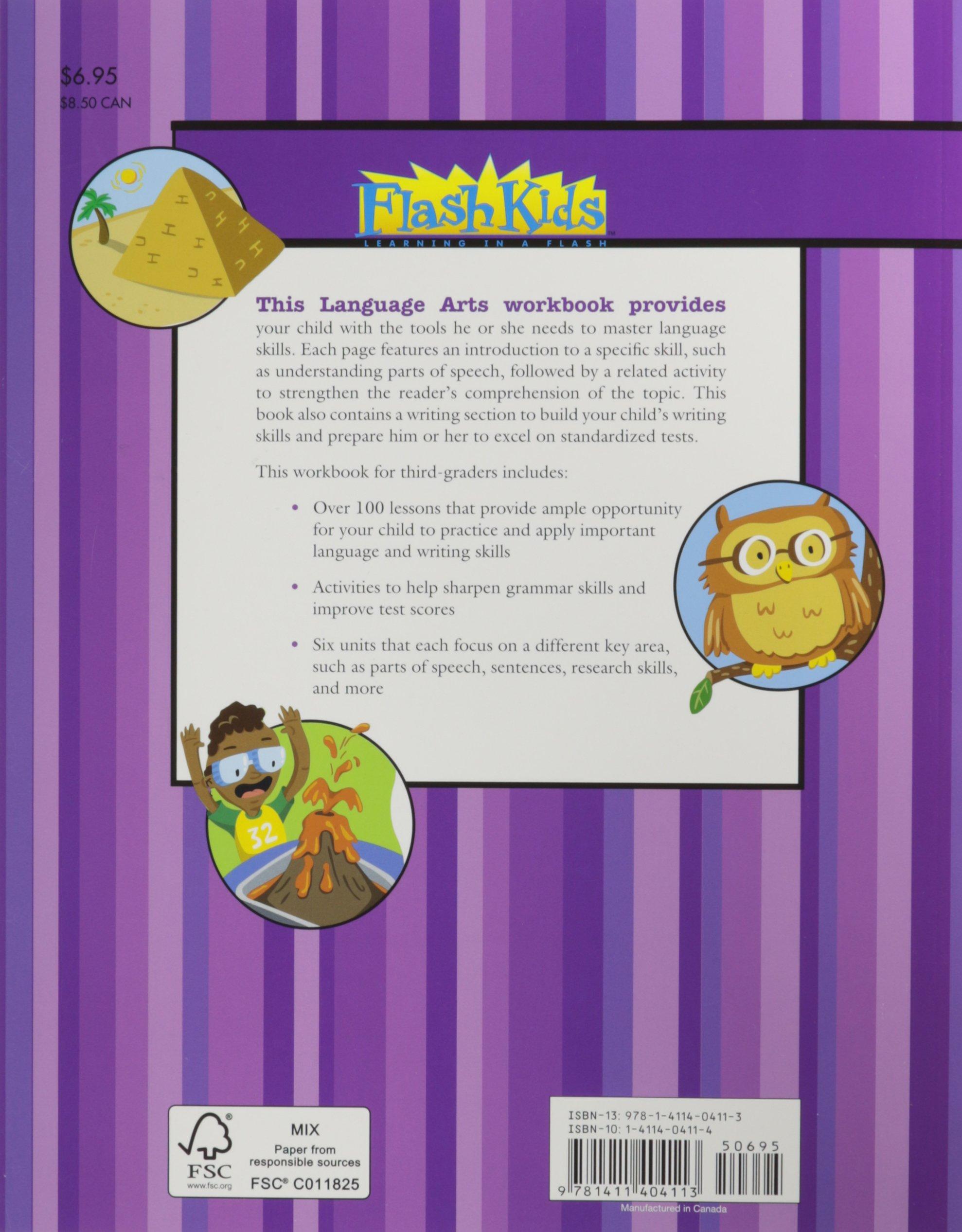 Language Arts: Grade 3 (Flash Kids Harcourt Family Learning): Flash Kids  Editors: 9781411404113: Amazon.com: Books