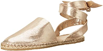 Loeffler Randall Woman Metallic Leather Espadrille Sandals Gold Size 10 Loeffler Randall peOv1D