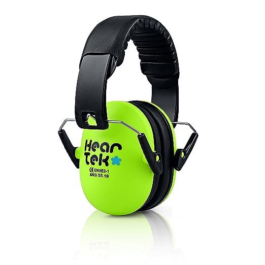heartek Kids Orejeras Junior y Bolsa de viaje de protección de la Audiencia Con protectores auditivos para niños, acolchado, orejeras de protección de bebé, ...