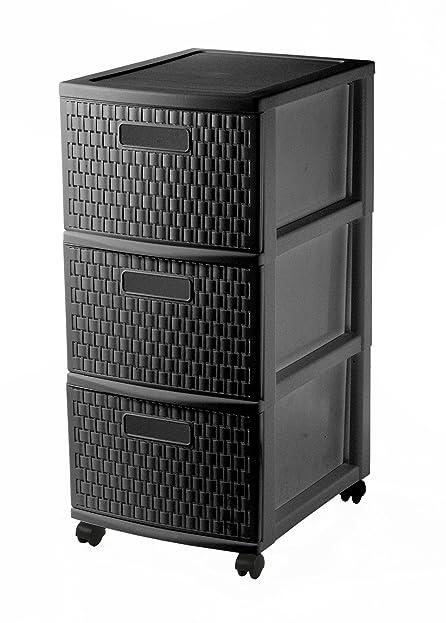 Rollcontainer kunststoff 3 schubladen  Sundis Rollcontainer