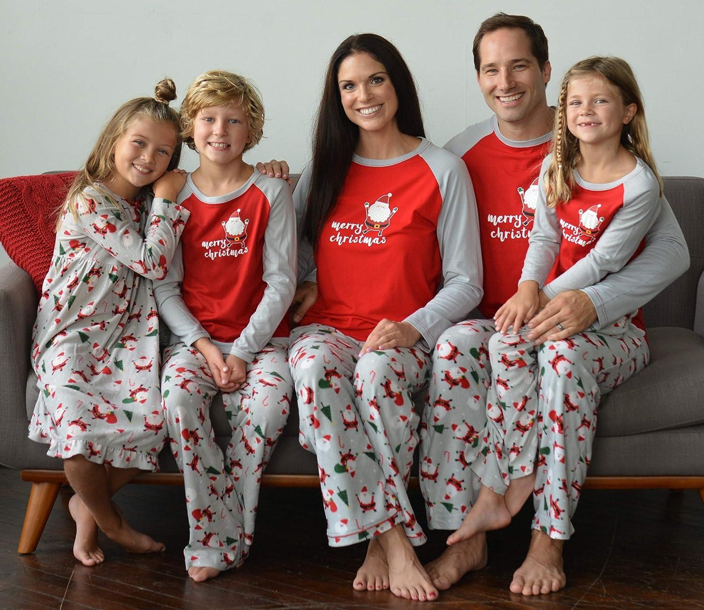9de4483aef Amazon.com  SleepytimePjs Christmas Family Matching Fleece Santa Pajama PJ  Sets  Clothing