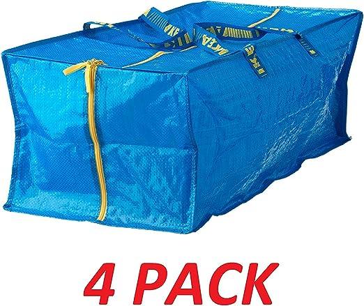 Ikea 901.491.48 Frakta Storage Bag, Blue, 4 Pack: Amazon.ae