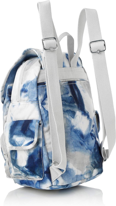Kipling City Pack S, Zaini Donna, Grigio, 27x33.5x19 cm Multicolore (Tie Dye Blue)