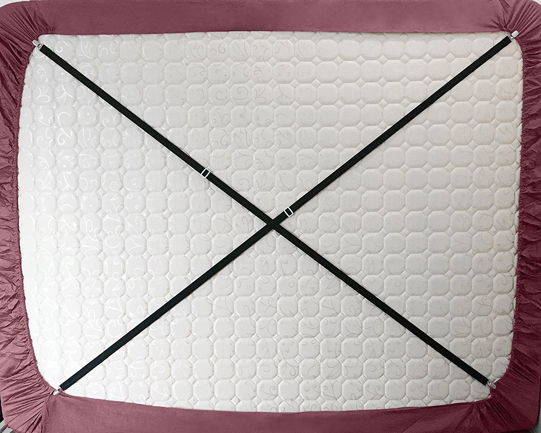 Eagsouni 2 St/ück Verstellbarer Kreuz Und Quer Extra Lang Bettlaken Spanner Betttuchspanner Spannbettlakenhalter Unter Matratze Bett Bettlakenspanner