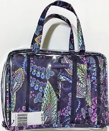 c72f3d0f55 Amazon.com   Vera Bradley 4pc Cosmetic Organizer (Batik Leaves)   Beauty