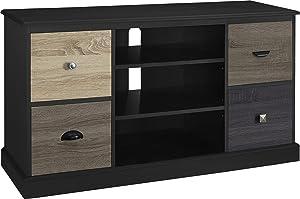 "Altra Blackburn 50"" TV Console with Multicolored Door Fronts, Black"