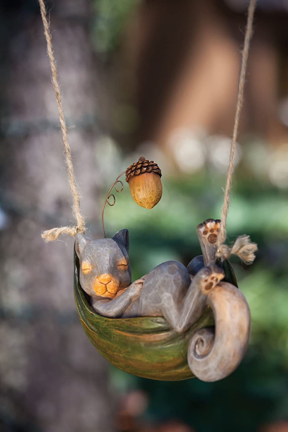 New Creative Garden Friends Day Dreamers Squirrel Statue by New Creative