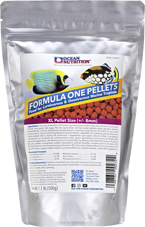 Ocean Nutrition Formula One Pellets 1.1-Pounds (500 Grams) Bag - Extra Large Pellet Size