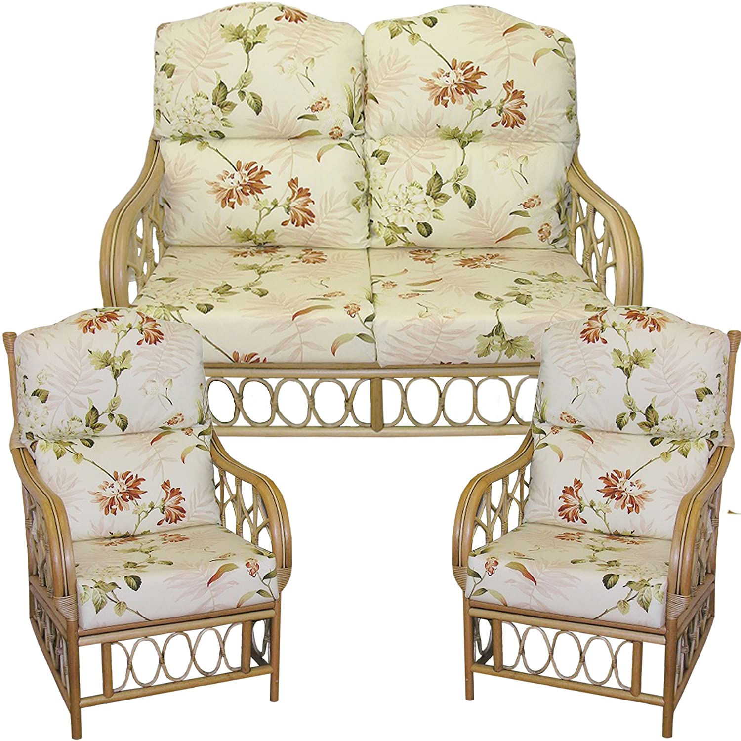 Cane chairs with cushions - Gilda Replacement Hump Top Suite Cane Furniture Complete Cushions Only Conservatory Wicker Rattan