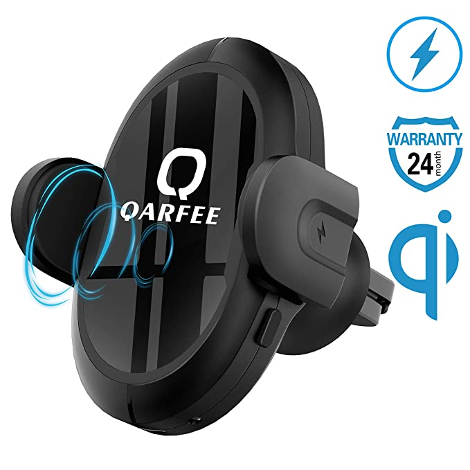 Qarfee Wireless Car Charger Multi-Funtion Qi Phone Holder Car Mount 7 5W /  10W Fast Charging Holder Auto Clamping Touch Cell Phone Air Vent Dashboard