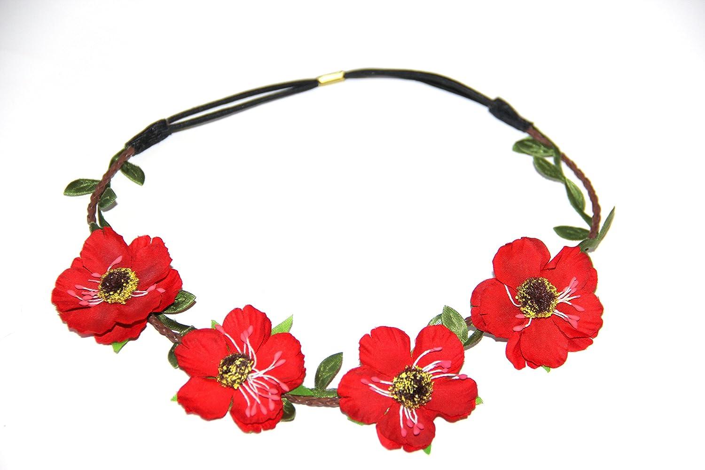 Hippie Love Floral Couronne en guirlande pour mariage/Festival/style bohème Motif guirlande de Cheveux Serre-tête