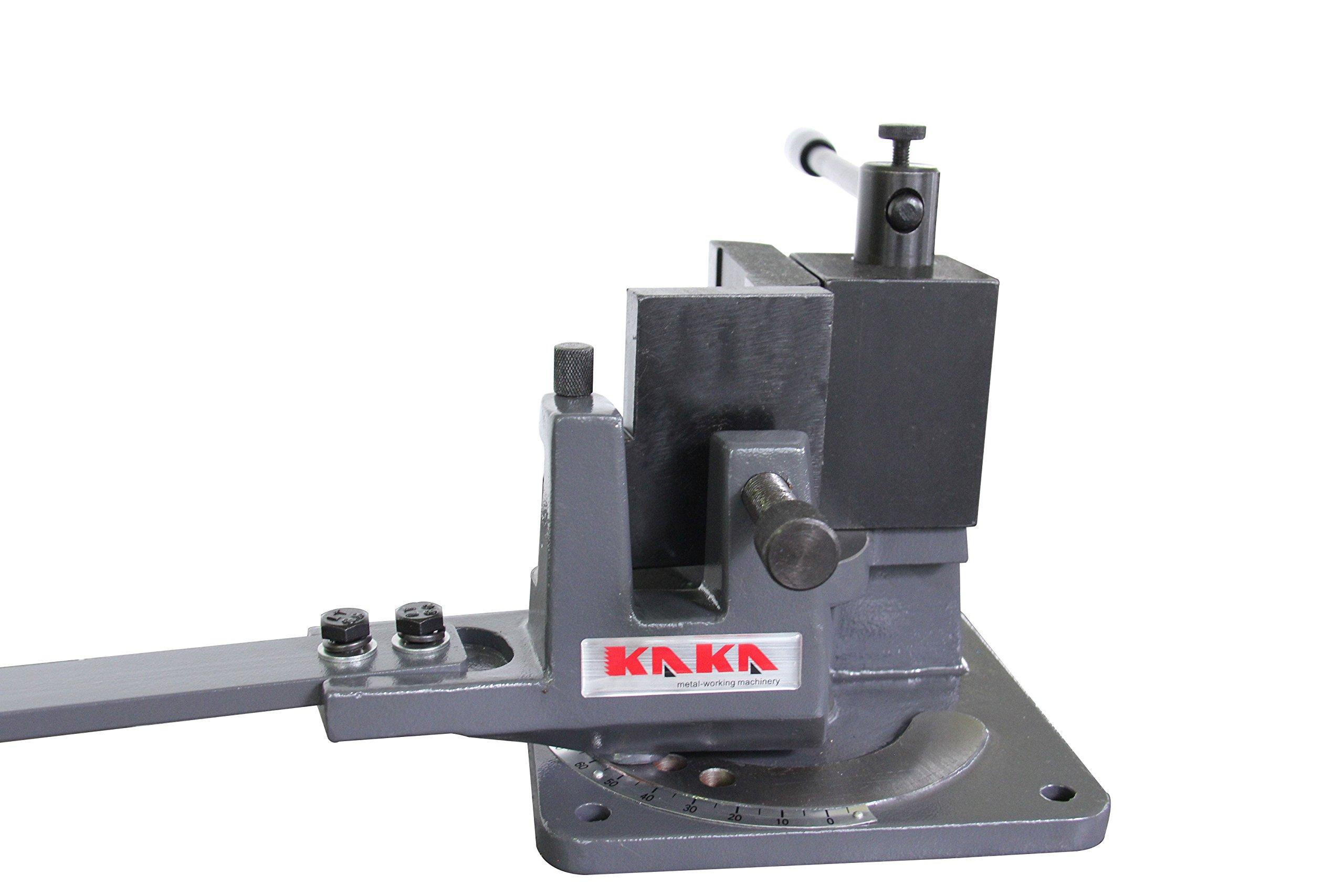 KAKA Industrial UB-70 Cast-Iron Metal Bender, 2-3/4-Inch Hot and Cot Sheet Metal Bender, Solid Design, High Precision Strip Steel, Flat Steel, Round Steel and Angle Steel Metal Bender