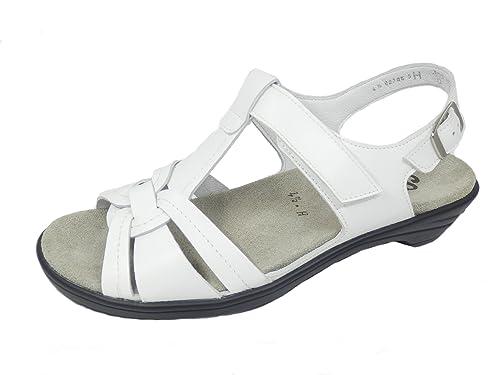 """Semler, Sandalen, Sandalette, """"Rosenow"""", weiß, Schuhweite H (41,5)"""