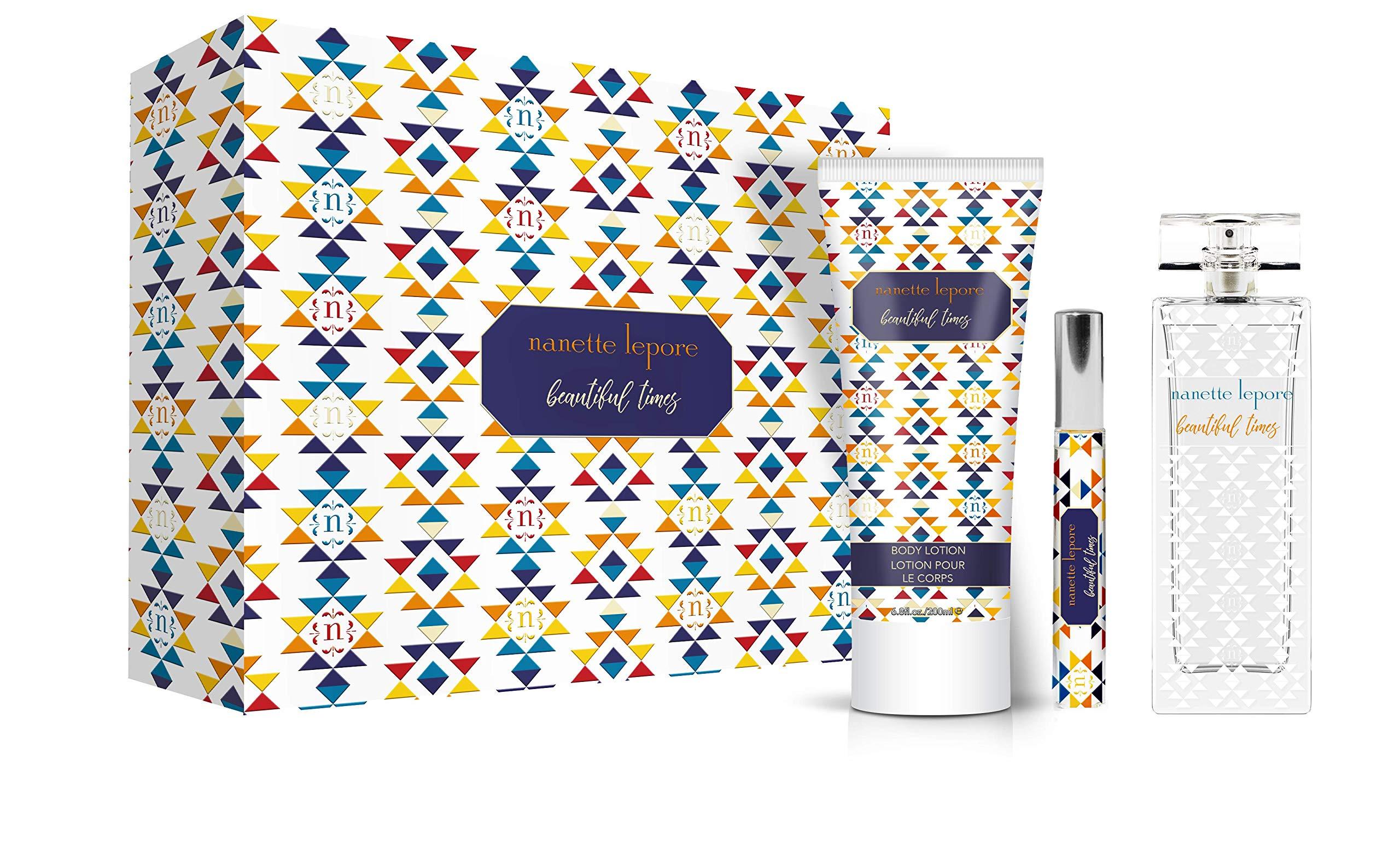 Nanette Lepore 3 Piece Gift Set, Beautiful Times, 3.4 Fluid Ounce by Nanette Lepore