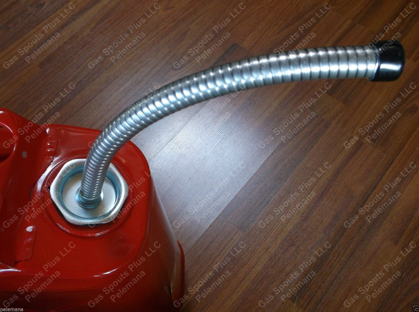 ''JERRY CAN METAL SPOUT w/ built in Metal Screen incl Gasket & Spout Cap'' HEAVY DUTY Army Surplus Military USMC BLITZ Gallon Gas G Jerrycan Flexible Pouring Fuel Nozzle Brand NewCan not included by Gas Spouts Plus