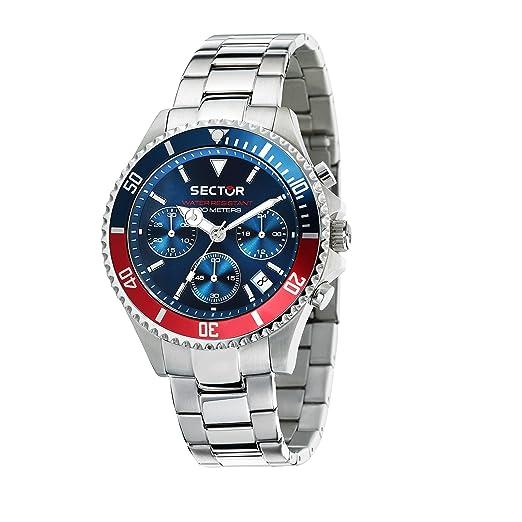 SECTOR NO LIMITS Reloj Cronógrafo para Hombre de Cuarzo con Correa en Acero Inoxidable R3273661008: Amazon.es: Relojes